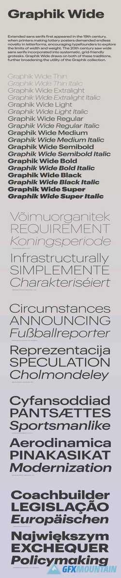 Graphik Wide Font Family » Free Download Graphics, Fonts, Vectors