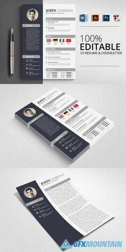 Creative CV Resume Word Design 2960419