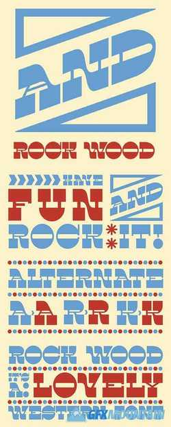 Rock Wood Font Family