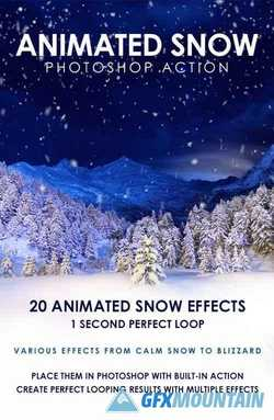 ANIMATED SNOW PHOTOSHOP ACTION - 19429039