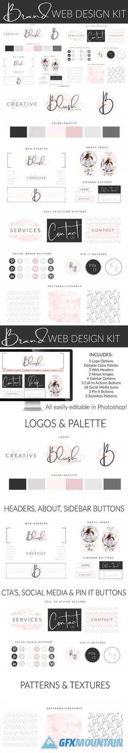 Web Branding Kit - Feminine Blush 2671904