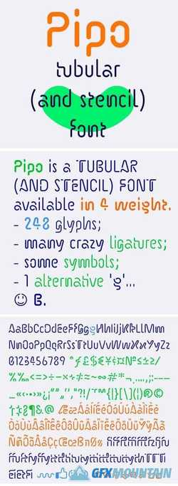 Pipo Font Family
