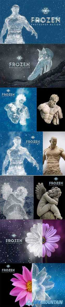 Frozen Ice Photo Effect