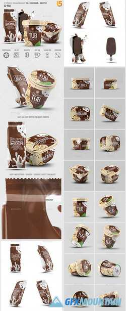 ICE CREAM PACKAGES MOCK-UP BUNDLE - 22813154