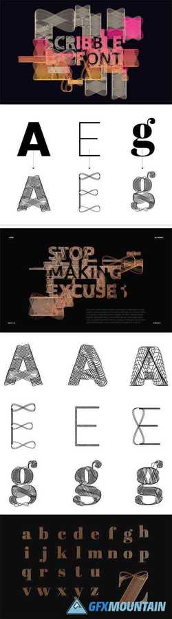 Scrbble - Experimental Vector Typeface