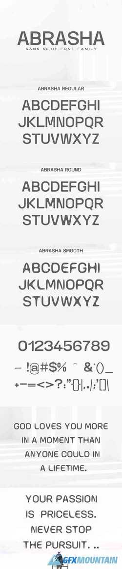 Abrasha Sans Serif Font Family 3144936 » Free Download