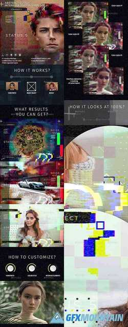 Abstract Glitch Photo Interface Template 22742649
