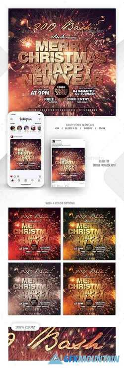 Christmas & New Year Party Flyer 22876375