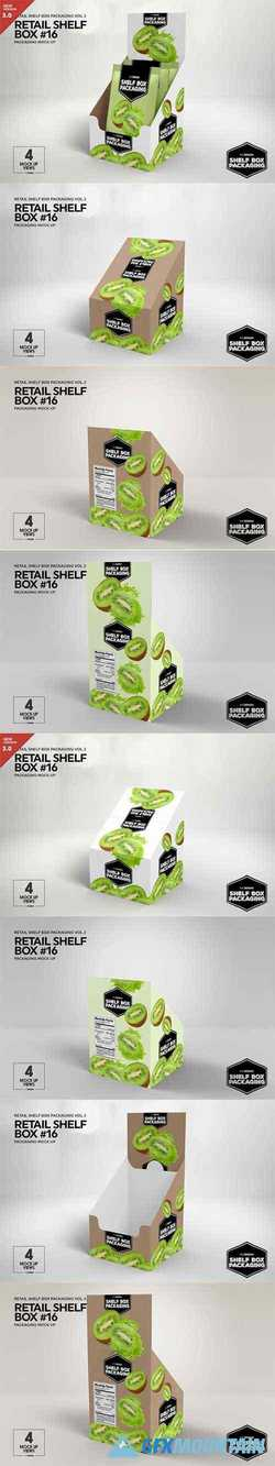 Retail Shelfbox 16 Packaging Mockup Free Download Graphics