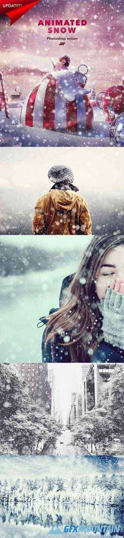 Gif Animated Snow Photoshop Action 180310933