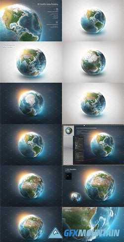 3D EARTH WORLD FOR PHOTOSHOP - 3029396