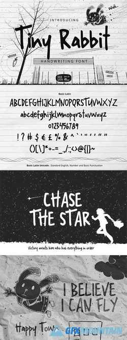 Tiny Rabbit Handwriting Font 3352272
