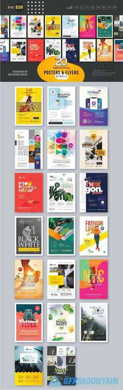 EYECATCHING POSTER & FLYER BUNDLE - 3334375