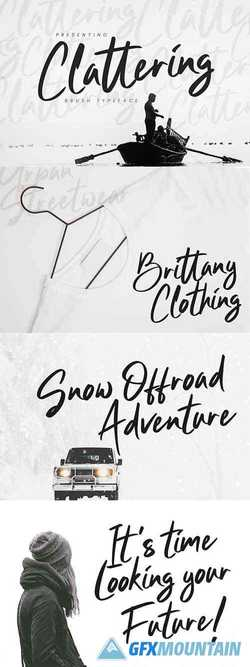 Clattering Brush Typeface