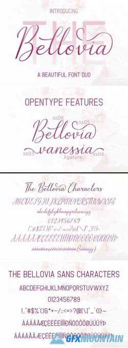 The Bellovia Duo Font