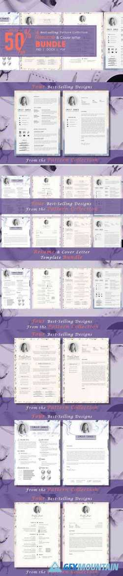Resume CV Pattern Bundle 3335518