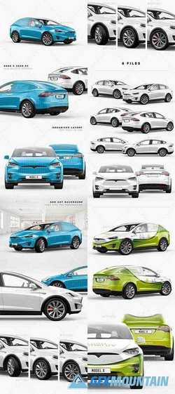 Tesla Model X Electric Car Mockup 23204802
