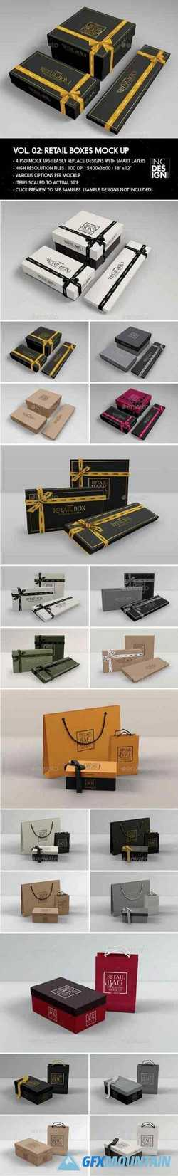 RETAIL BOXES VOL.2: BAG & BOX PACKAGING MOCK UPS V 1.2 - 19346258