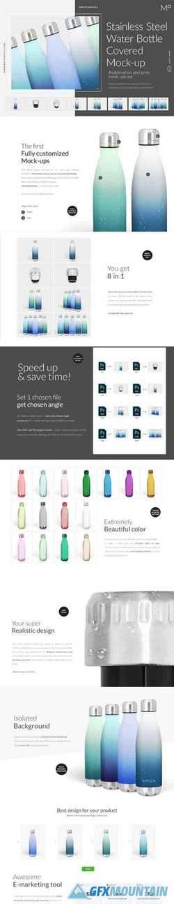 Stainless Steel Water Bottle Mockup 3406394
