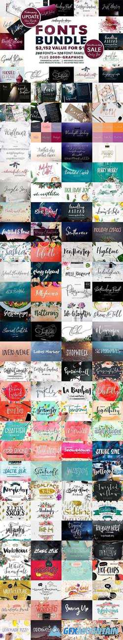 126 Fonts Bundle 1778651