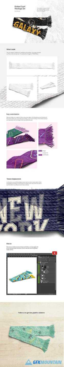 Knitted Scarf Mockups Set 3458102 » Free Download Graphics