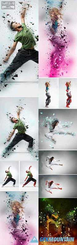 3D Dispersion Photoshop Action 23250205