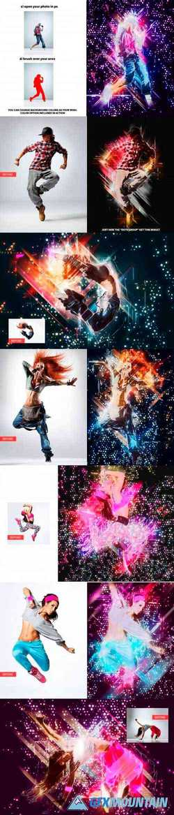 Multi Abstract Photoshop Action 3559837
