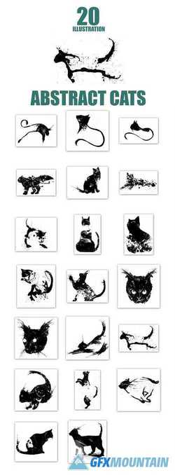 20 Illustration abstract Cats - 3084013
