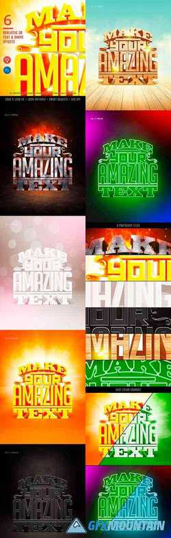 6 REALISTIC 3D TEXT EFFECTS - 23306691