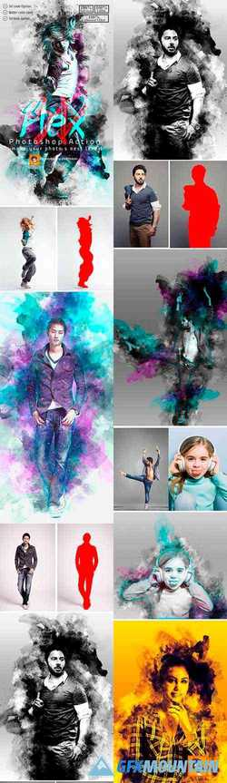 3D Flex Photoshop Action 23309142
