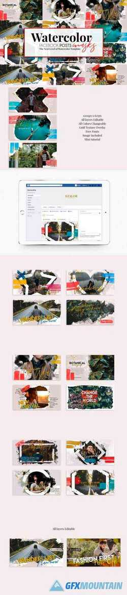Post Banners Watercolor Masks 2990654