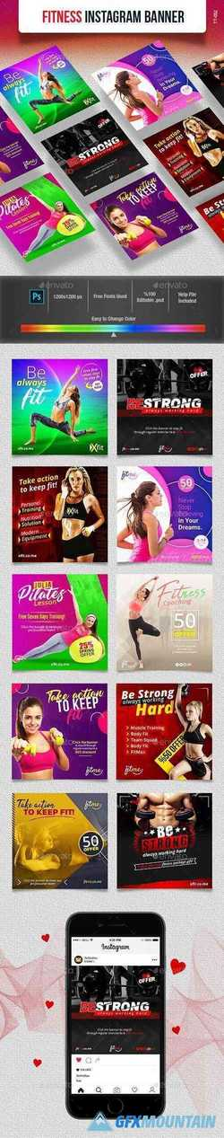 Fitness Instagram Banner 23416316 » Free Download Graphics, Fonts