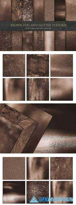 Brown Foil and Glitter Textures - 3332503