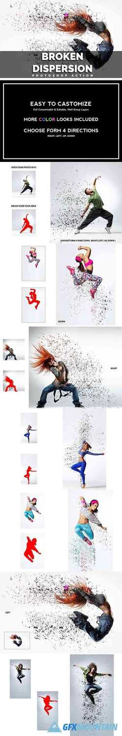Broken Dispersion Photoshop Action 3600977