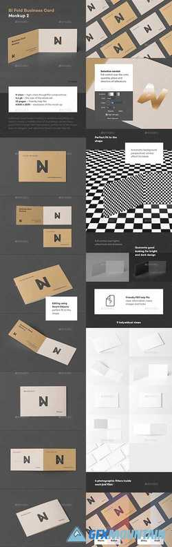 BI-FOLD BUSINESS CARD MOCK-UP 2 - 23518468
