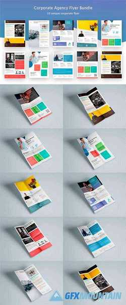Corporate Agency Poster Flyer Bundle 3617501