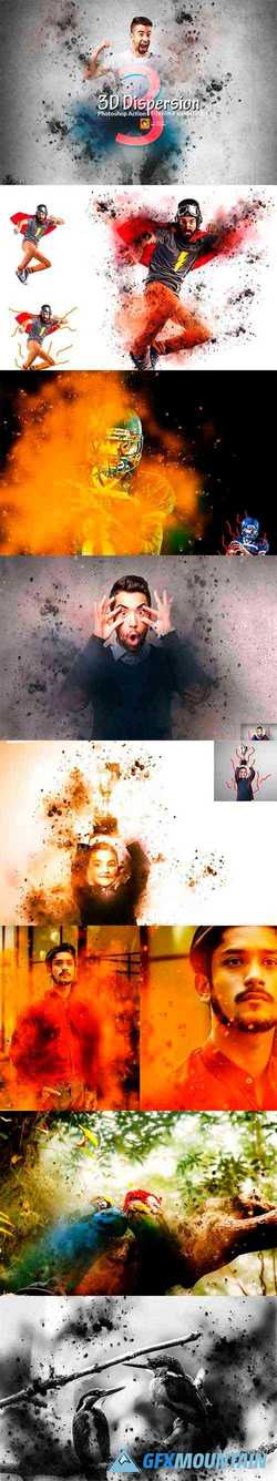 3D Dispersion Photoshop Action 3631399