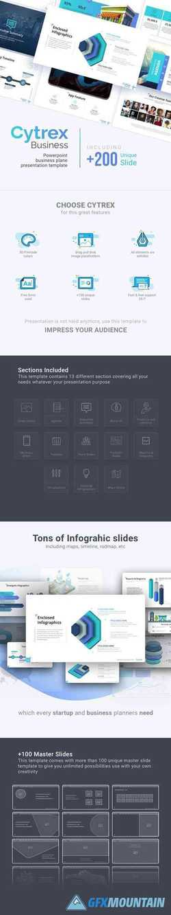 Cytrex - Business Plan PowerPoint Template 22525458
