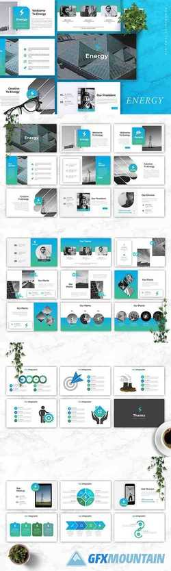 ENERGY - Company Profile Powerpoint, Keynote and Google Slides Template