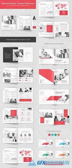 Business Marketing – Company Profile Square 23182625