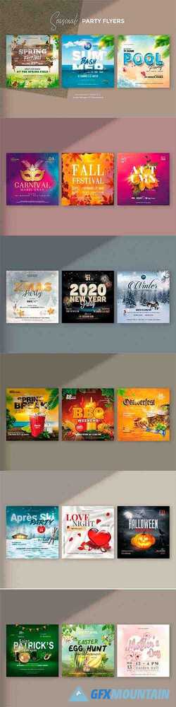 18 Seasonal Flyer Bundle 3680893