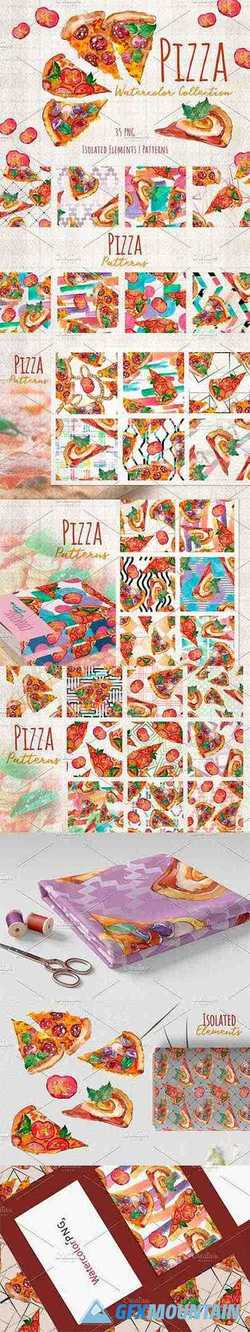 Hawaiian Pizza Watercolor - 3705725