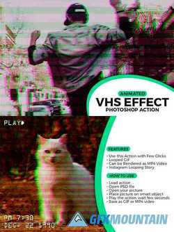 Animated VHS Effect Action 3708016