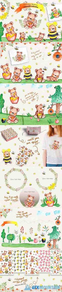 HONEY BEARS WATERCOLOR COLLECTION - 3716520