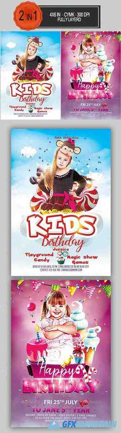 Kids Birthday Flyer Bundle 23560677
