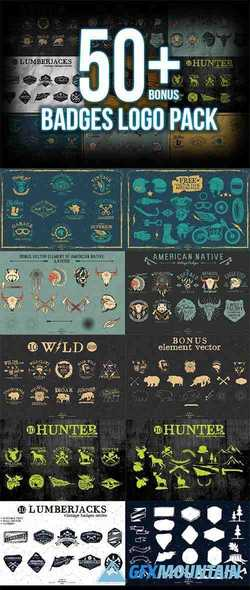 50+ Badges LOGO Pack
