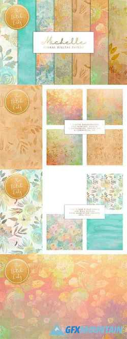Floral Background & Paper - Michelle - 3725915