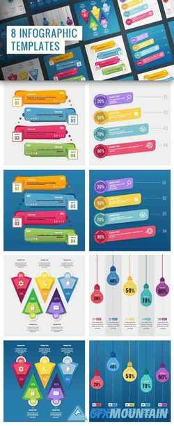 8 Infographic PSD Templates