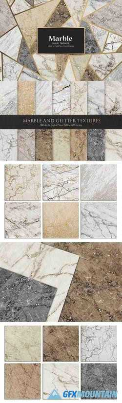 Marble and Glitter Textures, Backgrounds