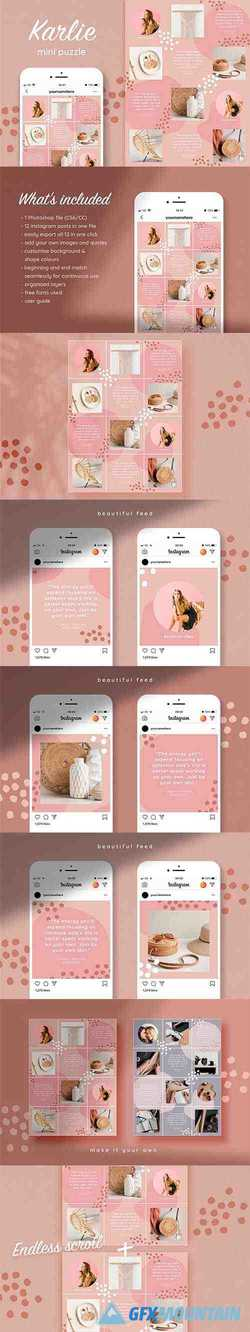Instagram quotes puzzle template 3745881